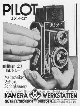 Dresdens Erste Zweiäugige Spiegelreflexkamera (1931)