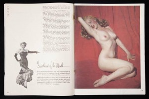 Marilyn Monroe im ersten Playboy 1953