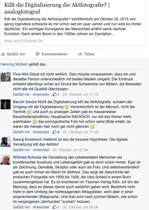 facebookdiskussion vom Oktober zum Thema