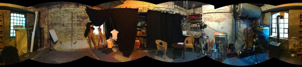 360° Blick im Atelier Dresden Friedrichstadt