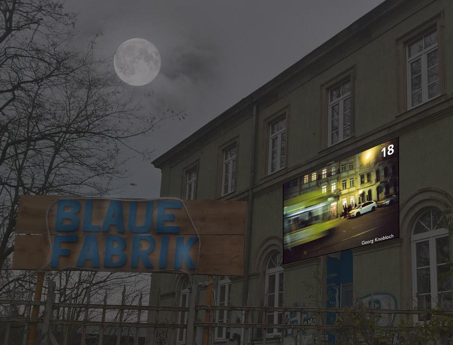 Das 18. Kalenderfenster der blauenFABRIK in Dresden